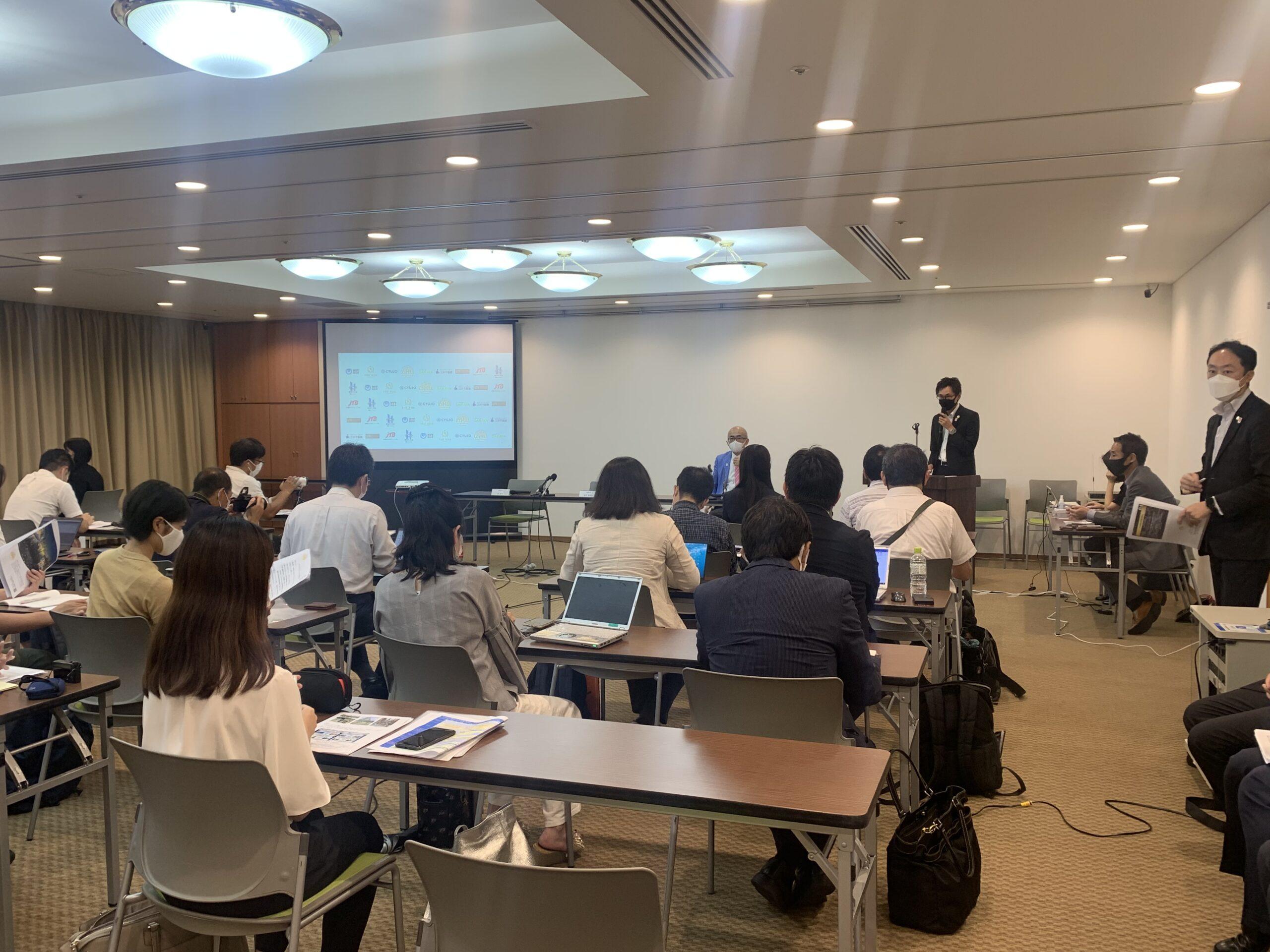 記者会見で「大阪B&Sプログラム」と「留学生ウィーク」の取り組みを発表しました!